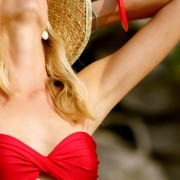 Scarlett Red Bandeau Twist Top