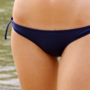 Oxford Blue Bikini Briefs with Side Ties